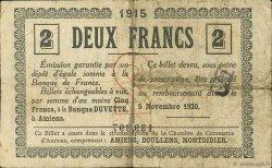 2 Francs FRANCE régionalisme et divers AMIENS 1915 JP.007.18 TB