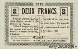 2 Francs FRANCE régionalisme et divers Amiens 1915 JP.007.22 SPL à NEUF