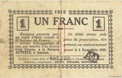 1 Franc FRANCE régionalisme et divers Amiens 1915 JP.007.24 TB