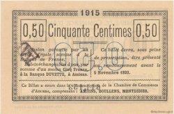 50 Centimes FRANCE régionalisme et divers AMIENS 1915 JP.007.26 SPL à NEUF