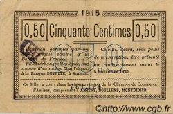 50 Centimes FRANCE régionalisme et divers Amiens 1915 JP.007.26 TTB à SUP