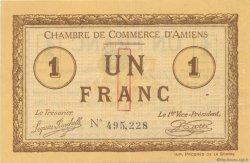 1 Franc FRANCE régionalisme et divers AMIENS 1915 JP.007.28 SPL à NEUF