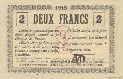 2 Francs FRANCE régionalisme et divers Amiens 1915 JP.007.31 SPL à NEUF