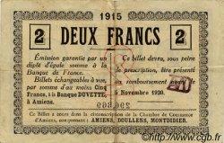 2 Francs FRANCE régionalisme et divers AMIENS 1915 JP.007.31 TTB à SUP