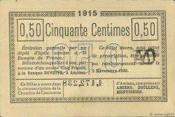 50 Centimes FRANCE régionalisme et divers AMIENS 1915 JP.007.32 SPL à NEUF