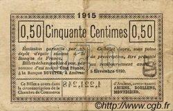 50 Centimes FRANCE régionalisme et divers AMIENS 1915 JP.007.32 TTB à SUP