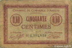 50 Centimes FRANCE régionalisme et divers AMIENS 1915 JP.007.32 TB