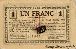 1 Franc FRANCE régionalisme et divers AMIENS 1915 JP.007.36 TTB à SUP