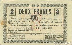 2 Francs FRANCE régionalisme et divers AMIENS 1915 JP.007.38 TTB à SUP
