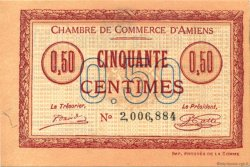 50 Centimes FRANCE régionalisme et divers Amiens 1915 JP.007.40 SPL à NEUF