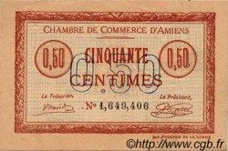 50 Centimes FRANCE régionalisme et divers AMIENS 1915 JP.007.40 TTB à SUP