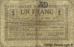 1 Franc FRANCE régionalisme et divers Amiens 1915 JP.007.43 TB