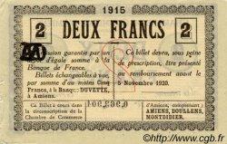 2 Francs FRANCE régionalisme et divers Amiens 1915 JP.007.46 TTB à SUP