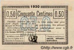 50 Centimes FRANCE régionalisme et divers AMIENS 1920 JP.007.49 TTB à SUP