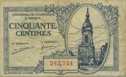 50 Centimes FRANCE régionalisme et divers AMIENS 1922 JP.007.55 TB