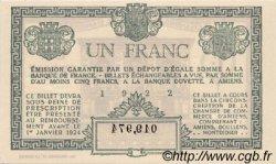 1 Franc FRANCE régionalisme et divers Amiens 1922 JP.007.56 SPL à NEUF