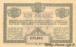 1 Franc FRANCE régionalisme et divers Amiens 1922 JP.007.56 TTB à SUP