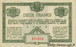 2 Francs FRANCE régionalisme et divers Amiens 1922 JP.007.57 SPL à NEUF