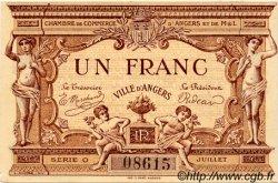 1 Franc FRANCE régionalisme et divers Angers 1915 JP.008.06 TTB à SUP