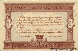 1 Franc FRANCE régionalisme et divers ANGERS 1915 JP.008.07 SPL à NEUF