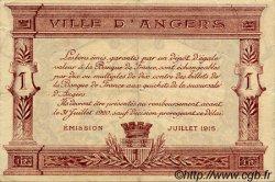 1 Franc FRANCE régionalisme et divers ANGERS 1915 JP.008.07 TTB à SUP
