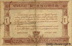 1 Franc FRANCE régionalisme et divers ANGERS 1915 JP.008.07 TB