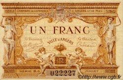 1 Franc FRANCE régionalisme et divers Angers 1915 JP.008.09 SPL à NEUF