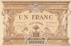 1 Franc FRANCE régionalisme et divers ANGERS 1915 JP.008.09 TTB à SUP