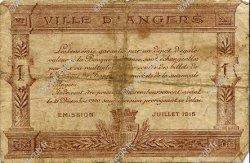 1 Franc FRANCE régionalisme et divers ANGERS 1915 JP.008.09 TB