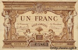 1 Franc FRANCE régionalisme et divers ANGERS 1915 JP.008.10 TTB à SUP