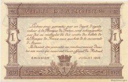1 Franc FRANCE régionalisme et divers ANGERS 1915 JP.008.12 SPL à NEUF
