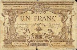 1 Franc FRANCE régionalisme et divers ANGERS 1915 JP.008.12 TB