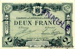 2 Francs FRANCE régionalisme et divers ANGOULÊME 1915 JP.009.07 TTB à SUP