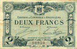 2 Francs FRANCE régionalisme et divers ANGOULÊME 1915 JP.009.12 TB
