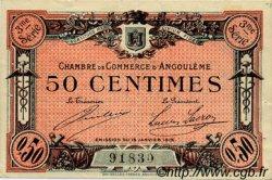 50 Centimes FRANCE régionalisme et divers ANGOULÊME 1915 JP.009.13 TTB à SUP