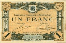1 Franc FRANCE régionalisme et divers Angoulême 1915 JP.009.16 TTB à SUP