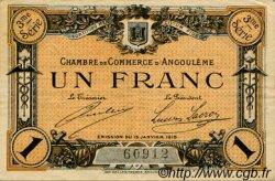 1 Franc FRANCE régionalisme et divers ANGOULÊME 1915 JP.009.16 TB