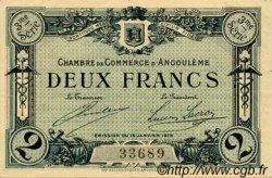 2 Francs FRANCE régionalisme et divers ANGOULÊME 1915 JP.009.18 TTB à SUP