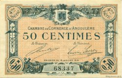 50 Centimes FRANCE régionalisme et divers ANGOULÊME 1915 JP.009.20 SPL à NEUF