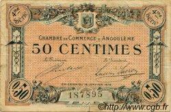 50 Centimes FRANCE régionalisme et divers Angoulême 1915 JP.009.24 TTB à SUP
