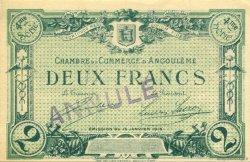 2 Francs FRANCE régionalisme et divers Angoulême 1915 JP.009.32 SPL à NEUF