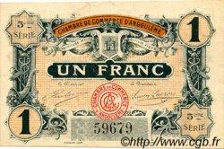 1 Franc FRANCE régionalisme et divers ANGOULÊME 1917 JP.009.36 TTB à SUP