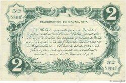 2 Francs FRANCE régionalisme et divers ANGOULÊME 1917 JP.009.38 TTB à SUP