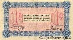 1 Franc FRANCE régionalisme et divers Annecy 1915 JP.010.01 TTB à SUP