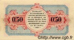 50 Centimes FRANCE régionalisme et divers ANNECY 1916 JP.010.07 SPL à NEUF