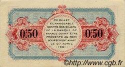 50 Centimes FRANCE régionalisme et divers ANNECY 1916 JP.010.07 TTB à SUP