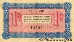 1 Franc FRANCE régionalisme et divers ANNECY 1917 JP.010.12 TTB à SUP