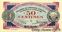 50 Centimes FRANCE régionalisme et divers ANNECY 1920 JP.010.15 SPL à NEUF