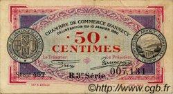 50 Centimes FRANCE régionalisme et divers ANNECY 1920 JP.010.15 TTB à SUP