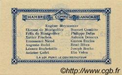 50 Centimes FRANCE régionalisme et divers ANNONAY 1914 JP.011.07 SPL à NEUF